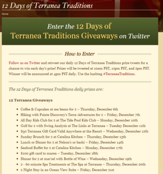 12 Days of Terranea Traditions Twitter